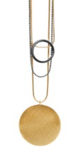 Shanaya Gold + Hematie Necklace - 028-01512$115