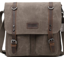 Edison Olive Waxed Canvas Bag - Troop London021-02014$149