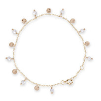 Fresh Water Pearl Disc Bracelet - Bianc004-02494$69