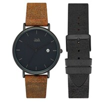 Ryan Black Watch w/ Brown and Black Watch Strap - Jag042-00612$149