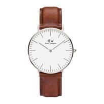 36mm SS Classic White St Mawes Leather Watch - Daniel Wellington042-00266$319
