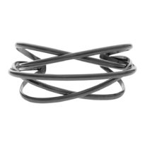 Tara Wrap It Hematite Bangle - 004-02516$95