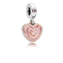 Rose and silver Path to Love Hanging Charm - 029-06417$89