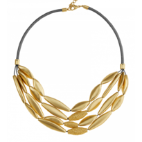 Tyra Gold Leaf Necklace - 028-01500$115