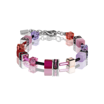 GeoCUBE Multicolour Red-Rose Bracelet  - 004-02221$179