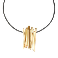 Veronica Grey/Gold Colour Ion 42cm Necklace - 028-01776$109